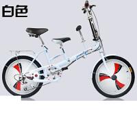 子车母子车折叠自行车双人座可以带小孩自行车女式变速母婴单车