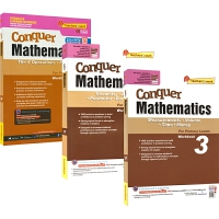 SAP Conquer Mathematics 3 攻克系列三年级练习册 四则运算分数 测量体积时间金钱 几何面积周长
