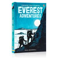 Usborne 真实故事阅读系列 珠穆朗玛峰探险 英文原版 True Stories Everest Adventure