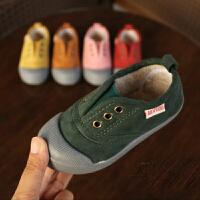 女宝冬鞋男宝棉鞋冬季 1-3-8岁保暖男童女童板鞋宝宝帆布鞋小童鞋