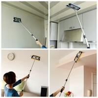天花板清洁工具擦棚顶墙擦厨房瓷砖家用伸缩去污拖把 2米杆25cm板2块布