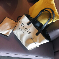大包包2018新款女包时尚帆布包潮字母单肩包大容量斜挎手提包