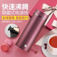 电热杯电热水杯 小型便携出国旅行电热水壶迷你小容量保温加热烧水