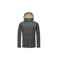 户外男士冲锋衣防风修身连帽三合一上衣旅行夹克外套 炭灰色 XXL/185