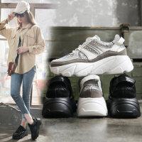 韩版松糕厚底女士休闲鞋子 时尚增高运动鞋女 ins潮老爹智熏鞋子潮