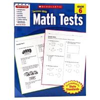 美国小学六年级数学测试题 Scholastic Success with Math Tests Grade 6 英文原版