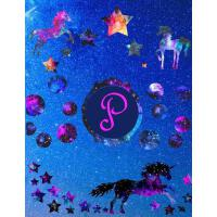 【预订】Starry Unicorns Notebook Monogram Series P: College Rule