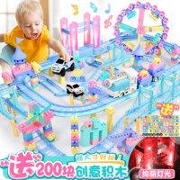 儿童积木轨道小火车套装男孩子3-4-6周岁7-8-10小孩玩具电动汽车