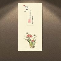 梅兰竹菊装饰画客厅饭店餐厅禅意中国风学校挂画养生会所墙面壁画