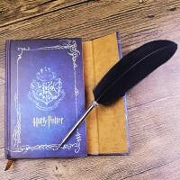 2件 哈利波特笔记本 复古魔法创意礼品文具 送羽毛圆珠笔 赠送黑色羽毛笔