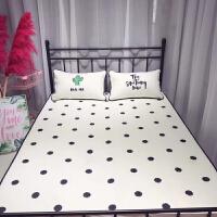 ins粉红豹天丝空调软席三件套凉席幼儿童卡通席子宿舍凉席1.2米 白色 仙人掌