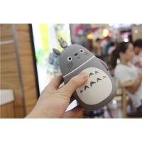 韩国创意可爱保温杯学生儿童不锈钢迷你水杯便捷卡通水瓶大肚杯子 灰色248毫升