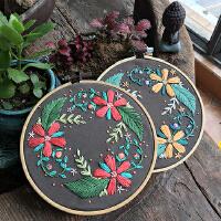 手工diy自制刺绣家居装饰绣花相框相片墙壁画材料包