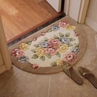 3D半圆形地毯防滑地毯入户门厅脚垫蹭土垫防滑吸尘脚垫可机洗