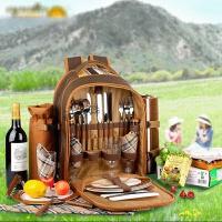 野餐包双肩旅游户外露营四人套装餐具用品餐包便携