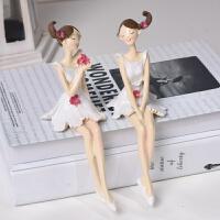 创意家居装饰品摆件情侣娃娃电视柜客厅小饰品摆设树脂工艺品田园