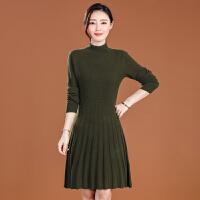 秋冬季新款毛衣连衣裙女内搭时尚中长百搭加厚打底衫韩版显瘦