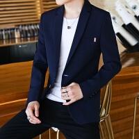 西装外套男士韩版修身西休闲2018新款发型师上衣服帅气潮流西服