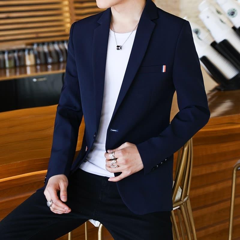西装外套男士韩版修身西休闲2018新款发型师上衣服帅气潮流西服 发货周期:一般在付款后2-90天左右发货,具体发货时间请以与客服协商的时间为准