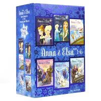 【首页抢券300-100】Anna & Elsa Books 1-6 Disney Frozen 迪士尼冰雪奇缘冒险章节