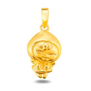 先恩尼黄金 3D硬金 黄金吊坠 足金吊坠  舒心宝宝 足金项链 XZQ013070 秒杀 女 学生 手表