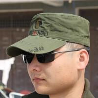 户外军迷用品特种兵野战作训作战帽军帽钓鱼用平顶鸭舌帽子 军绿 鸭舌帽