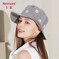 卡蒙渔夫帽女士帽子春季时尚遮阳帽韩国潮帽甜美可爱百搭夏天盆帽3460
