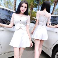 娇小个子150CM矮个子女装145夏XS码上衣搭配短裙衣服显高时髦套装