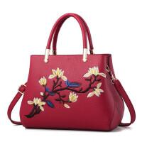 七夕礼物女士红色刺绣结婚包包新款大气婚礼用女包手提包单肩手拎新娘包包
