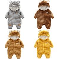 女婴儿衣服0岁3个月6男宝宝长袖哈衣爬服加厚4新生儿连体衣秋冬装