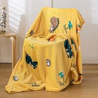 毛毯加厚法兰绒冬季单人宿舍学生被夏季薄款珊瑚绒床单午睡小毯子