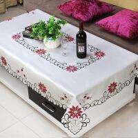 欧式茶几桌布布艺客厅餐桌布长方形布艺蕾丝桌布简约现代正方形