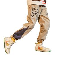 【2件3折:80.7元】小虎宝儿长裤男童2021新款春秋纯棉儿童运动裤潮