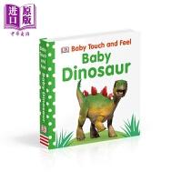 【中商原版】Baby Touch and Feel Baby Dinosaur DK触摸启蒙:恐龙宝宝 英文原版 进口图