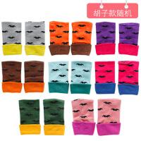 韩版毛线手套女冬季学生可爱加绒加厚保暖针织手套户外骑车秋冬天 胡子款B9-33