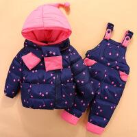 婴儿羽绒服白鸭绒1超轻薄2男女宝宝套装小孩秋冬季0-3周岁半保暖