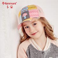 kenmont儿童帽子女夏天鸭舌帽韩版潮女童纯棉透气棒球帽遮阳帽4702