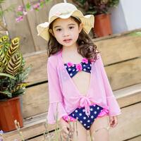儿童泳衣女孩宝宝比基尼女童游泳衣外罩衫可爱中大童温泉度假泳装