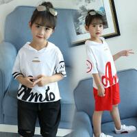 女童夏装2018新款套装两件套夏季童装洋气韩版时髦儿童小女孩潮衣
