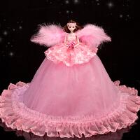 公主娃娃粉色梦幻天使翅膀娃娃套装 女孩公主 生日礼物