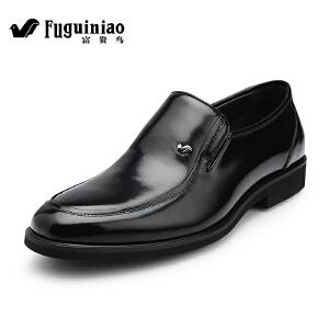 富贵鸟新品 男士商务正装皮鞋 英伦套脚男鞋