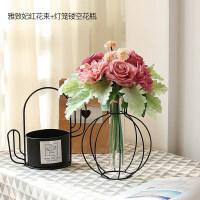 北欧绢花假花仿真花客厅花瓶装饰品摆件玫瑰小清新花艺摆设