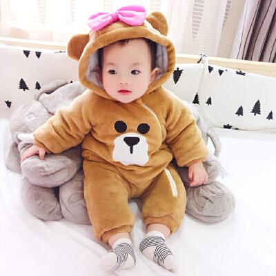 女婴儿连体衣冬季加厚宝宝外出抱衣服新生儿外套装 发货周期:一般在付款后2-90天左右发货,具体发货时间请以与客服协商的时间为准