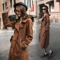 外套中长款风衣大码女装秋我的前半生罗子君同款大衣麂皮绒潮