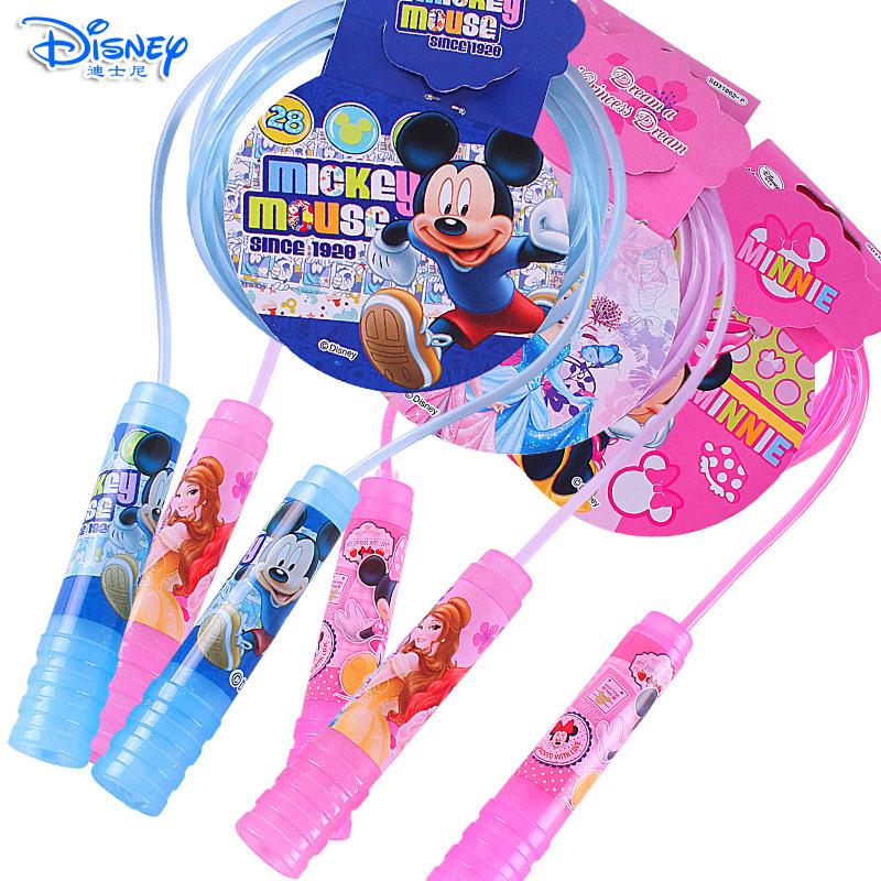 迪士尼儿童跳绳幼儿园宝宝可调节绳子小孩小学生体育用品专业绳