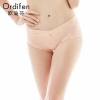 【2件3折到手价约:29】欧迪芬女士内裤纯色无痕内裤中腰三角内裤OP7252