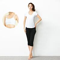 瑜伽服女士套装夏季瑜珈服健身舞蹈练功服跑步服三件套显瘦