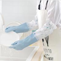 家务耐用加厚橡胶手套厨房防水洗碗洗衣手套家务耐用刷碗加绒