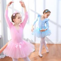 儿童舞蹈服装春夏季芭蕾舞裙女童练功服短袖幼儿舞蹈裙考级演出服