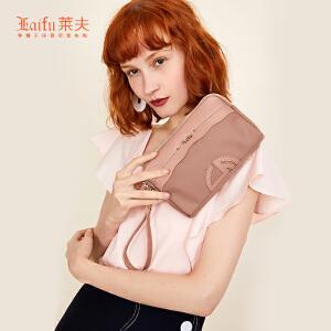 【可使用礼品卡】莱夫ins少女心钱包女长款2018新款韩版潮百搭时尚手腕包女手拿包